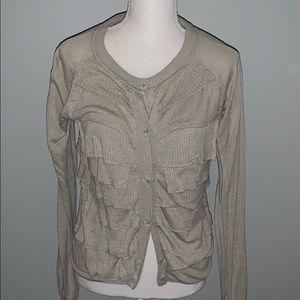 Jcrew Women's Silk & Linen Tan Cardigan
